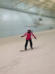 The girls showed no fear on the main slope