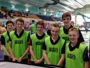 Some of the boys who volunteered as Young Leaders at the Water Polo event