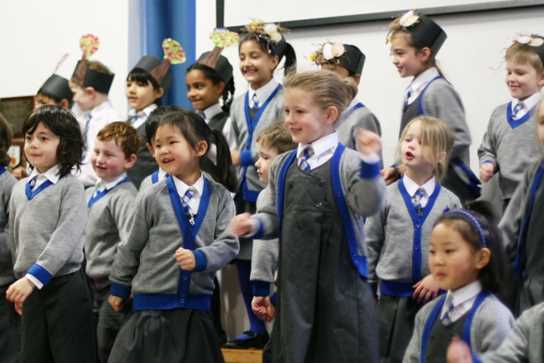 Pupils had a great time dancing to Happy