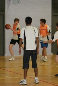 Basketball was one of the range of activities available