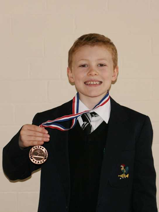 Joe with his bronze medal