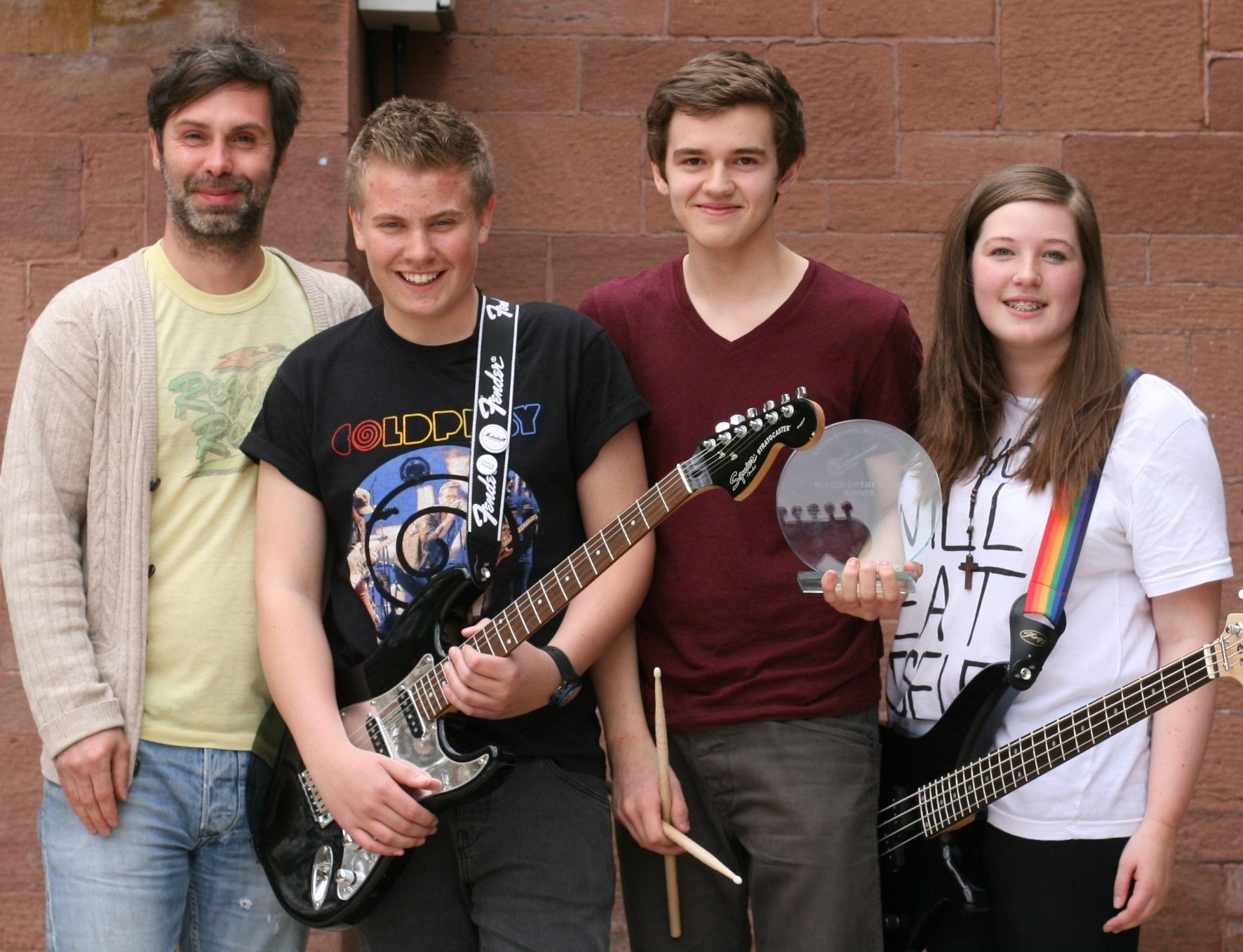 bolton school  girl and boys in harmony at battle of the bands