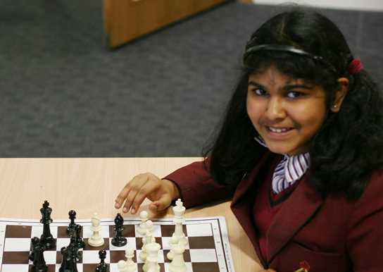 Sharon is the only girl in the England U11 Chess team