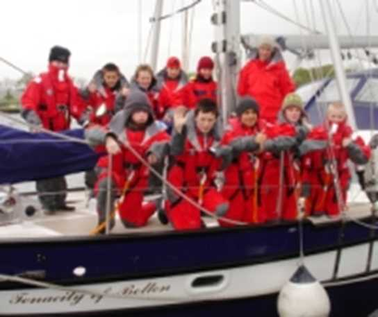 Nine Year 8 boys prepare to set off on the maiden curriculum voyage