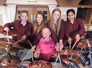 Ex Status Quo Drummer Jeff Rich at Bolton School