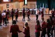 The girls enjoyed learning salsa dancing