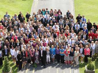 School staff say farewell to the centre quadrangle
