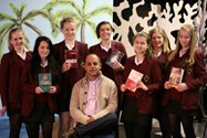 Award winning author Bali Rai spoke to Year 9 pupils about his writing