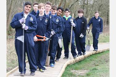 One of the groups who helped GPAG, on a path built by the Year 10 boys