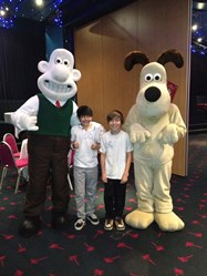 Eddy Backhouse and Dominic Ally Wallace and Gromit Cracking Ideas competition