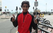 Anosh Bonshahi completed the London to Brighton cycle challenge
