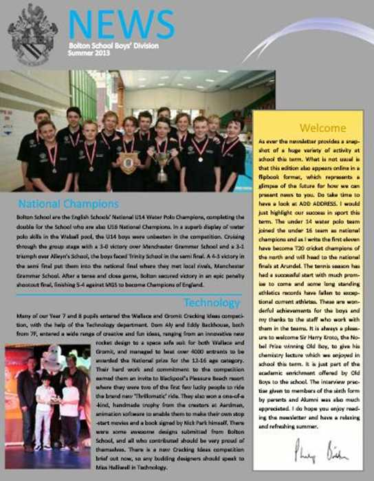 Newsletter Summer 2013