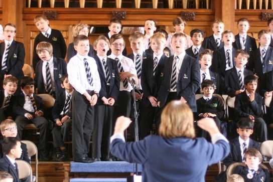 The Massed Voices of the Boys Junior School