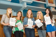 Girls Sixth Form Celebrating A Level Success