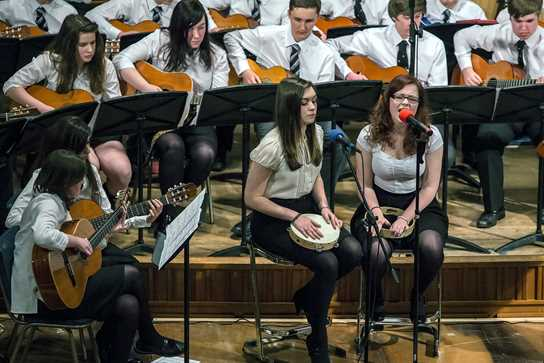 Sixth Form Girls Playing Music