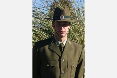 Private Daniels in his New Zealand Army Uniform
