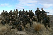 Ryan with his platoon