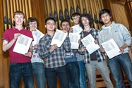 Boys celebrated an outstanding set of A level results