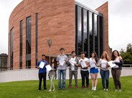 Students pictured here all achieved at least 3 A* grades
