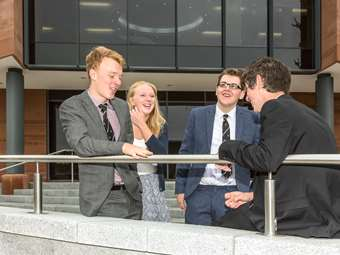 Pupils try out their new Sixth Form Centre
