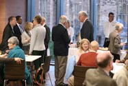 Guests enjoyed refreshments in the Riley Centre Refectory