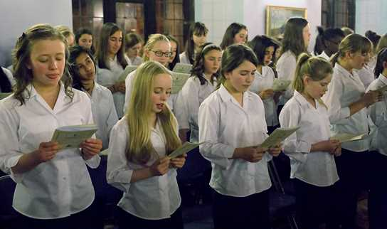 The Middle School and Senior School choirs will entertain guests at the Star Ball