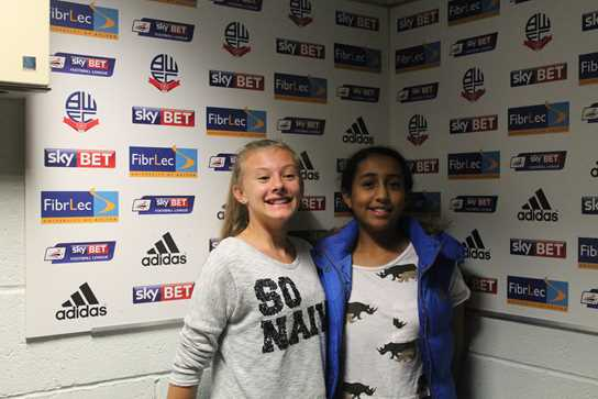 Bolton School girls tour of Reebok Stadium