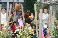 Staff and Children in the Secret Garden