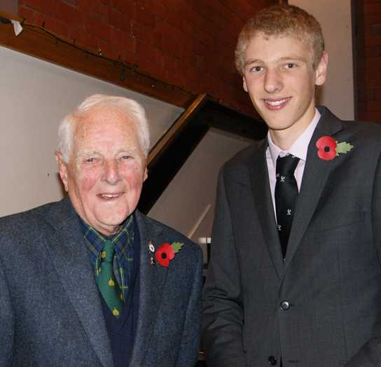 Paul Greenhalgh and his Grandad Kenneth Lee (Class of 1940)