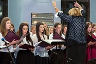 The Senior Choir, conducted by Mrs Carter, offers an harmonious Flying Free