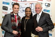 Graham and James Edgington with singer Angie Brown