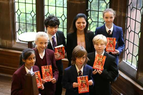 Pupils from across the region joined Bolton School pupils at the launch, where Sufiya announced the six shortlisted books