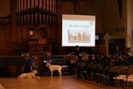 The Guide Dogs for the Blind Association presentation in the Great Hall