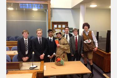 The boys at this year's Mock Law Trial Competition