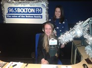 Rhiannon and Rachel at Bolton FM