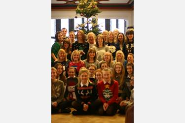 A colourful spectacle as staff and students don their Christmas jumpers