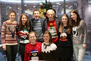 Sixth Form Boys and Girls alike donned their Christmas jumpers in support of the event