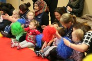 The children loved shaking the pom-poms in time with the music
