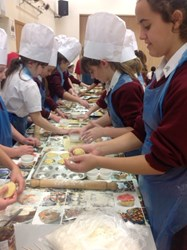 All of the girls got a chance to make their own mince pies