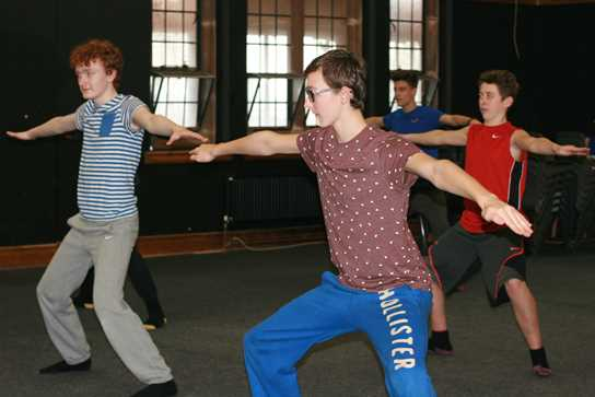 The boys master the Lord of the Flies choreography