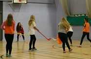 The fast pace of Unihoc was popular with the girls