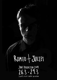 Poster for Romeo & Juliet, designed by Yr 13 student Luke Brabbin
