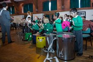 The children had a great time playing the percussion instruments
