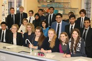 Sixth Form students prepare to sit the Chemistry Olympaid examination
