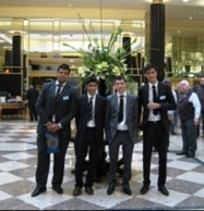 The Target 2.0 team in the foyer of the Midland Hotel in Manchester