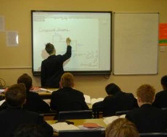 Boys Division Maths lesson