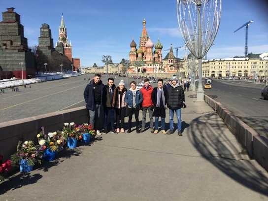 Y13 students visit the Pushkin Institute in Moscow each year