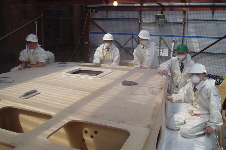 boat-pupils-working-on-the-coachroof