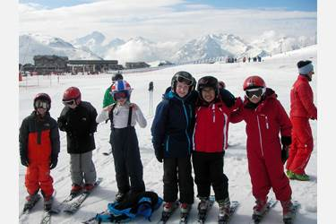 The boys had a wonderful time on the slopes of the Alps
