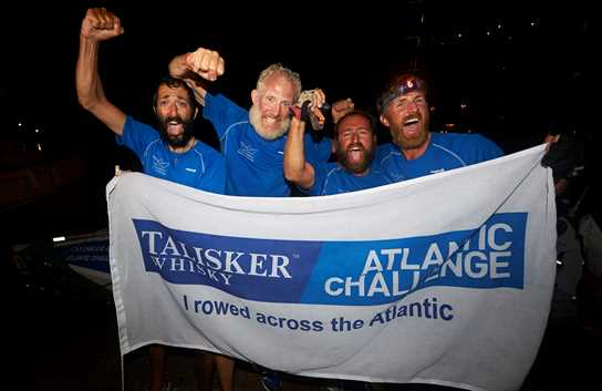 The four men reached the finish line in the early hours of the morning on Sunday